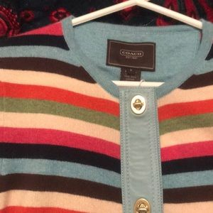 Vintage striped COACH cardigan